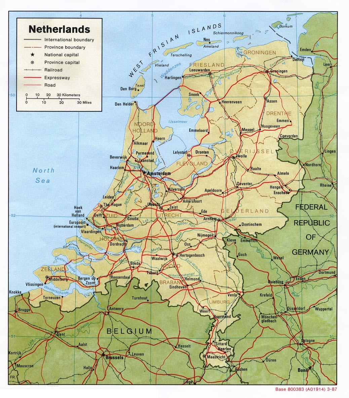 holand karte