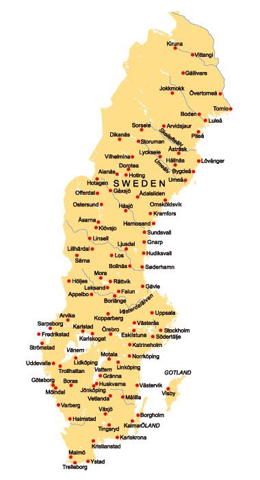 Schweden Städte