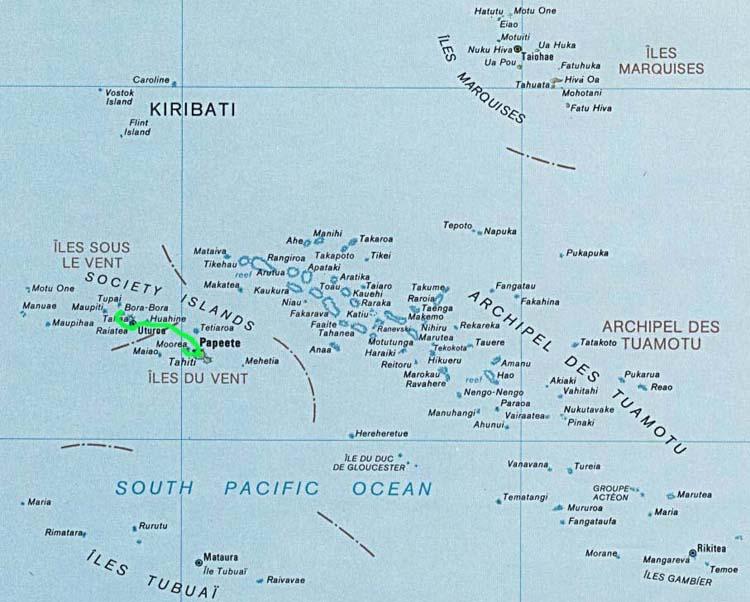 Bora Bora Karte