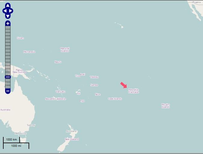 Bora Bora Weltkarte