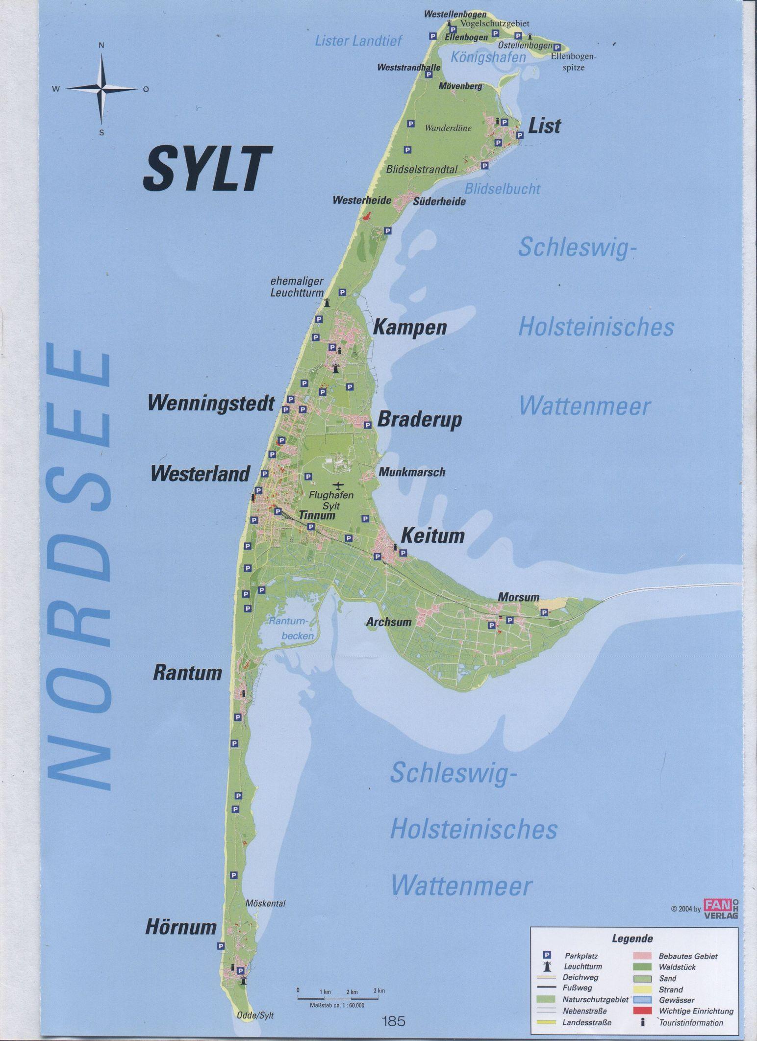 Sylt Karte