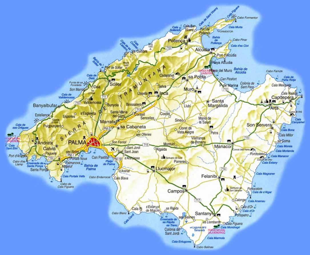 Mallorca Karte Sehenswurdigkeiten Und Ballermann Bilder