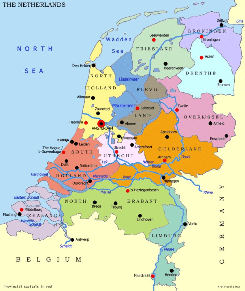 Holland Karte, Landkarte